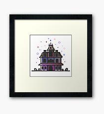Phantom Manor Haunted Mansion Vector Artwork Framed Print