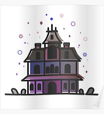 Phantom Manor Haunted Mansion Vector Artwork Poster
