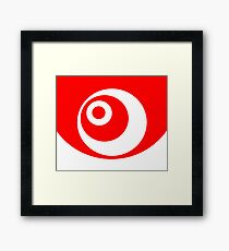 Abstract pattern - red and white. Framed Print