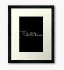 Programming Ninja Framed Print