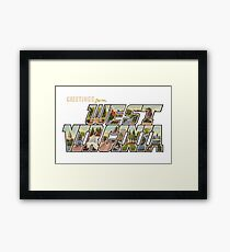 Greetings from West Virginia 2a Framed Print