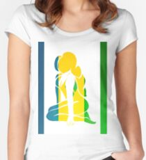 Custom Stencil Woman (St. Vincent)  Women's Fitted Scoop T-Shirt
