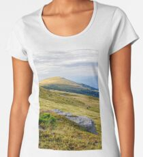 mountain landscape with stone and peak Women's Premium T-Shirt