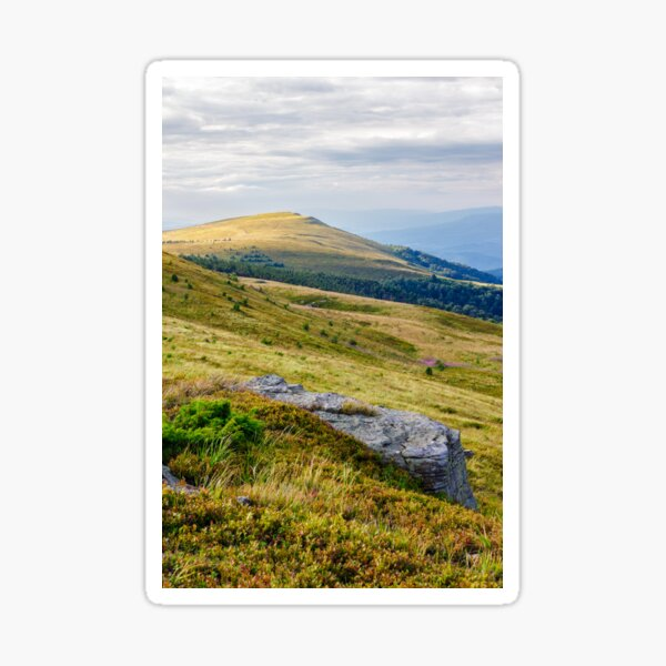 mountain landscape with stone and peak Sticker