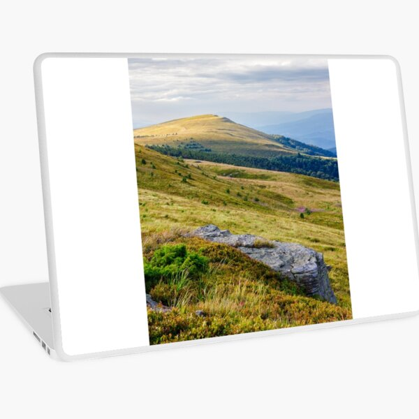 mountain landscape with stone and peak Laptop Skin