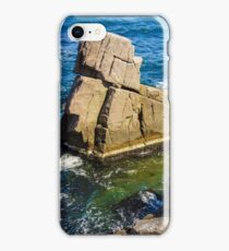 sea wave breaks about rocky shore iPhone Case/Skin