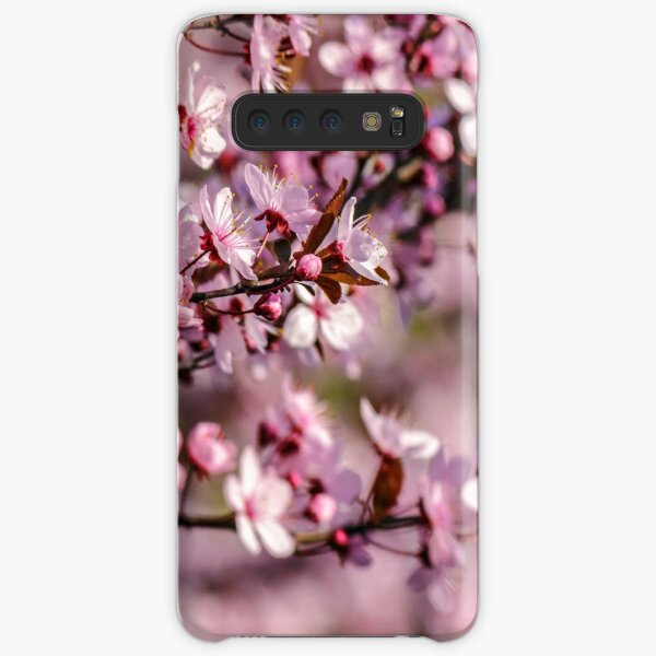 flowers of apple tree on a blur background Samsung Galaxy Snap Case