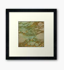 Autumn Marble Pattern 3 Framed Print