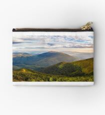 forest on hillside in morning light Studio Pouch
