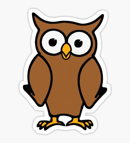 Alvin the Owl Sticker