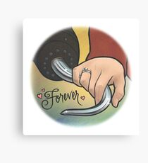 Hand and hook Canvas Print