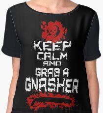 Gears of War, Keep Calm an grab a Gnasher Women's Chiffon Top