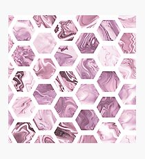 Rose hexagons Photographic Print