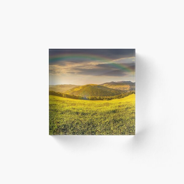 hillside meadow in high mountains Acrylic Block