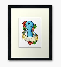 EXISTENCE IS PAIN Framed Print