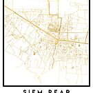 SIEM REAP CAMBODIA CITY STREET MAP ART by deificusArt