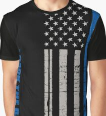 I back the blue - thin blue line Graphic T-Shirt