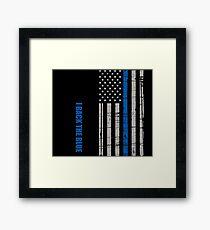 I back the blue - thin blue line Framed Print