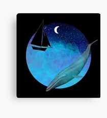 Magical Watercolor night Canvas Print