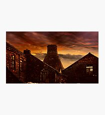 A Potteries Sunset Photographic Print