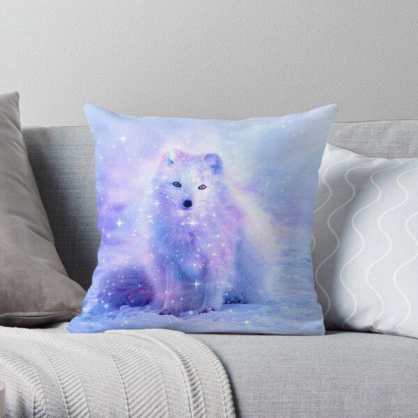 Arctic Iceland Fox Throw Pillow