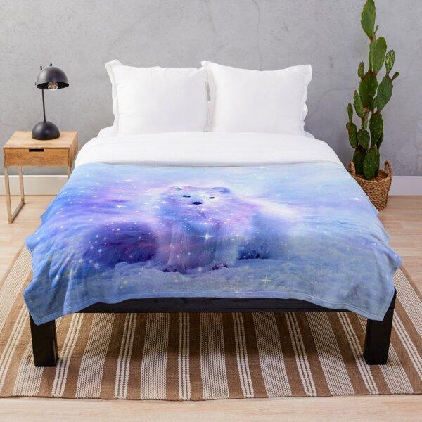 Arctic Iceland Fox Throw Blanket