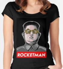 President Trump Called Kim Jong Un Rocketman so I made it a t shirt. Women's Fitted Scoop T-Shirt