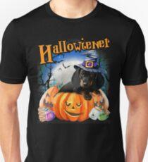 Happy Halloweiner Design Funny Dachshund Halloween Costumes T-Shirt