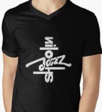 SHAOLIN JAZZ - Compass en Blanco Men's V-Neck T-Shirt
