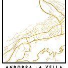 ANDORRA LA VELLA CITY STREET MAP ART by deificusArt