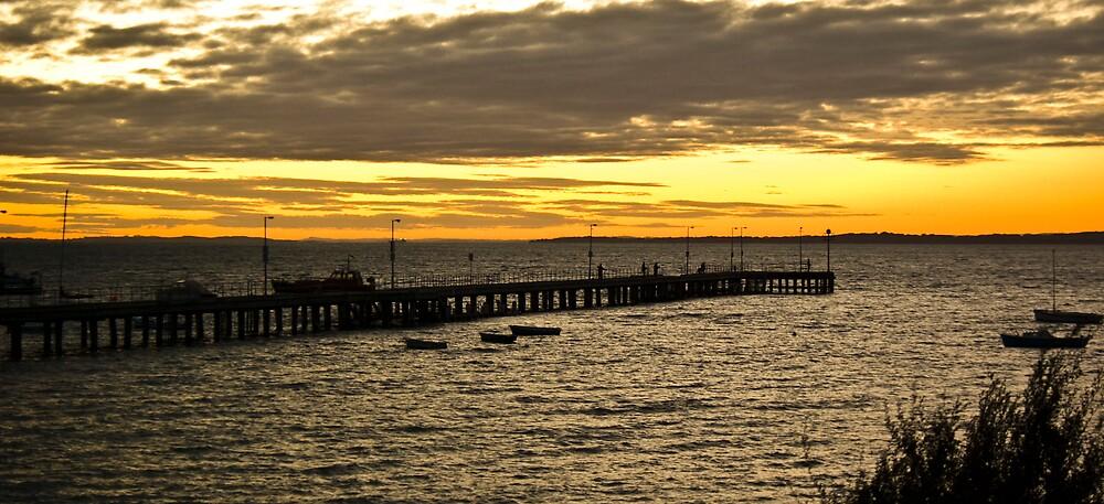 Flinders Pier,Vic by Peter Rowley