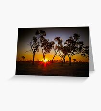 Australian Outback Sunset Greeting Card
