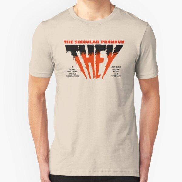 THEY Horror Shirt (light) Slim Fit T-Shirt