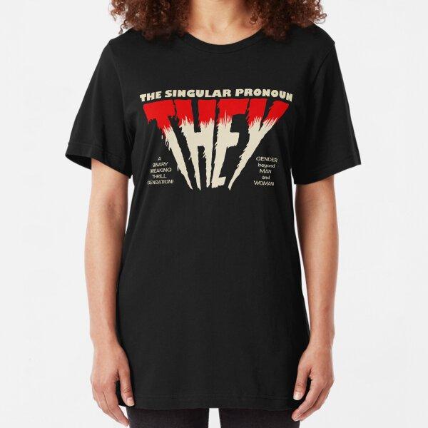 THEY Horror Shirt (dark) Slim Fit T-Shirt