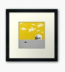 Ernest Hemingway   Digital Collage Art Framed Print