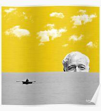 Ernest Hemingway   Digital Collage Art Poster
