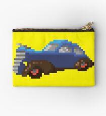 Blue pixel retro car Studio Pouch