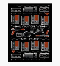 Now You're Playing With Power! T-Shirt Photographic Print