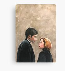 Kiss Already- X Files Mulder Scully MSR original painting Canvas Print