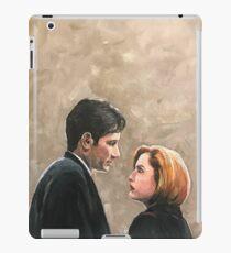 Kiss Already- X Files Mulder Scully MSR original painting iPad Case/Skin