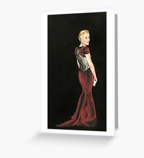 Gillian Anderson Original Painting 2017 Emmys Greeting Card