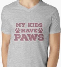 My Kids Have Paws Cat Dog Parents Men's V-Neck T-Shirt