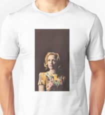 Gillian Anderson Hummingbird Dress Original Painting T-Shirt