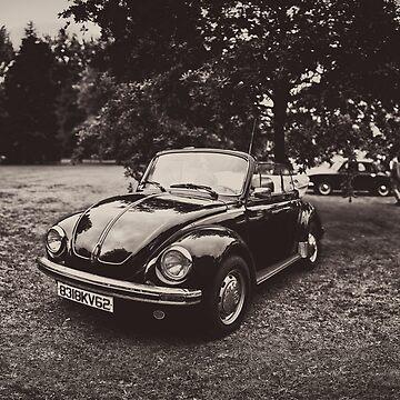 VW Beettle Black - B&W by benbdprod