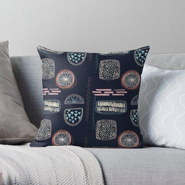 Abstract Thread Throw Pillow