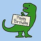 Happy Birthday T-Rex by jezkemp