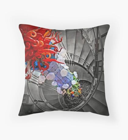 Four Elements Squared Throw Pillow