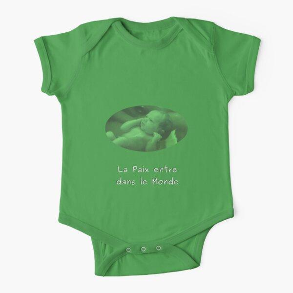 Peaceful birth Short Sleeve Baby One-Piece