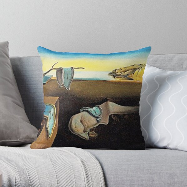 DALI, Salvador Dali, The Persistence of Memory, 1931. Throw Pillow