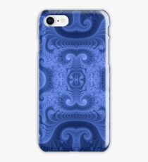 Beautiful abstract fractal, blue color iPhone Case/Skin